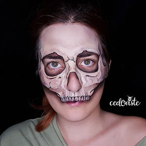 Skull Mask Video Tutorial by Ana Cedoviste