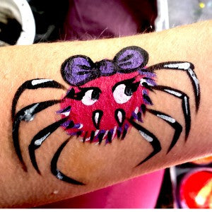 How to Face Paint a Cute Halloween Spider