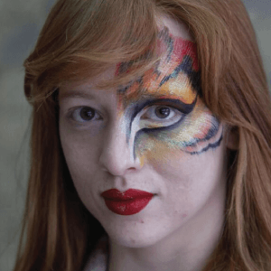 Tiger Eye Face Paint Design Video Tutorial by Athena Zhe