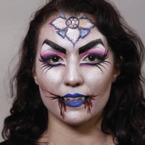 Vampire Face Paint Design Tutorial by Athena Zhe