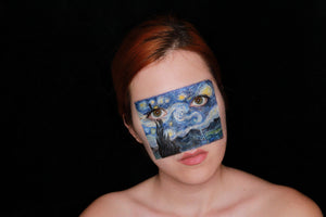 Van Gogh Face Paint Design by Ana Cedoviste