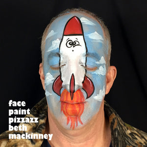 Full Face Rocket Ship Tutorial by Beth MacKinney