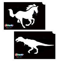 Animal & Dinosaur Glitter Tattoos