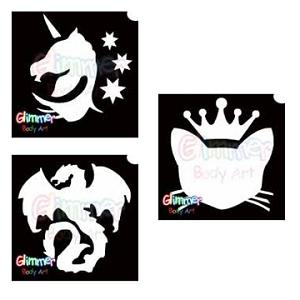 Fantasy, Unicorn, Dragon Glitter Tattoos