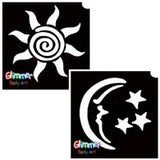 Star, Sun & Moon Glitter Tattoos