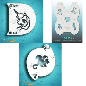 Fantasy, Unicorn, Dragon Face Paint Stencils