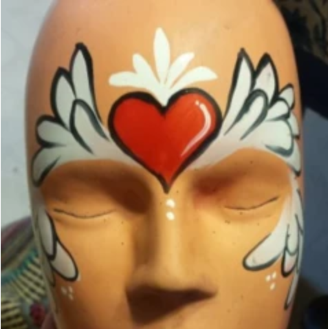 Valentine's Day Face Paint Design