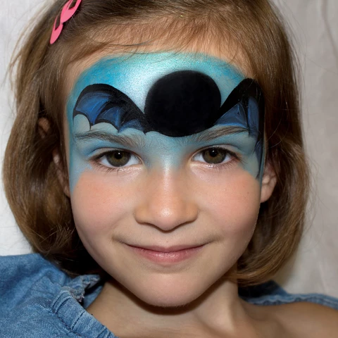 Bat Face Paint Design