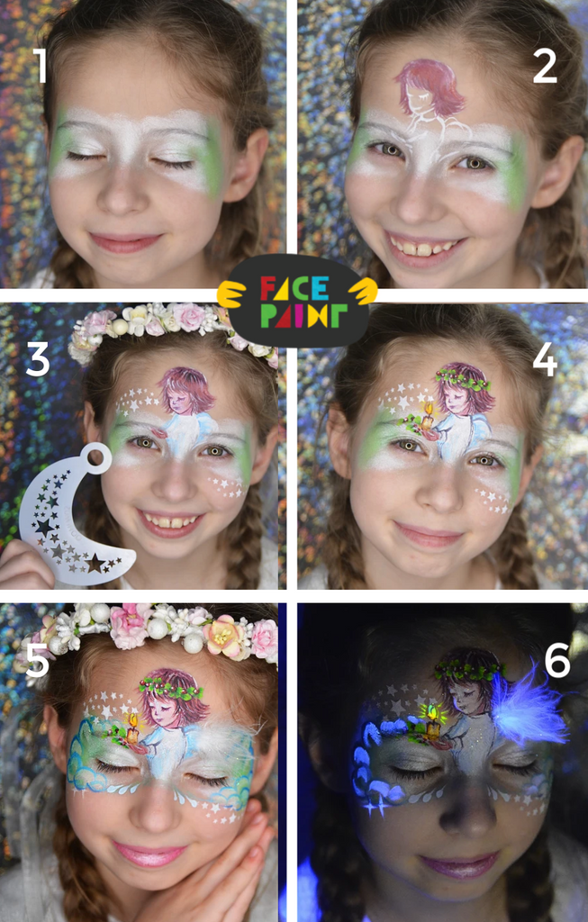 Angel Face Paint Design