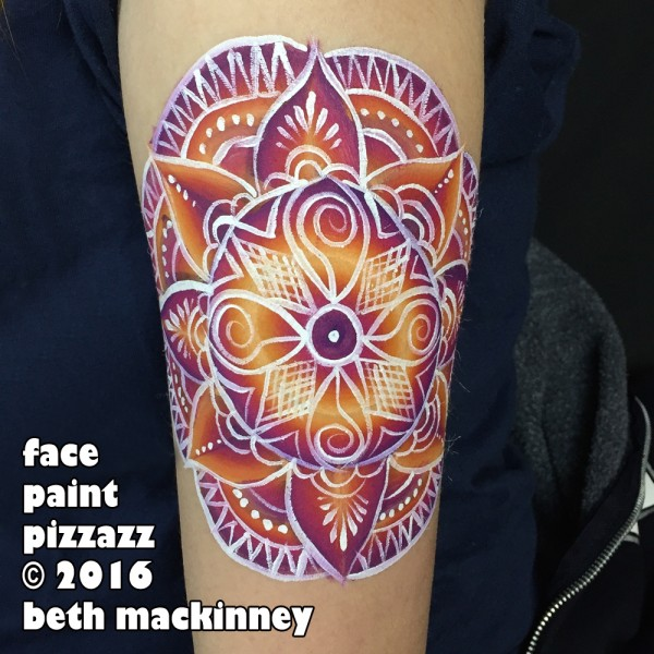 Arm Mandala Face Paint Design