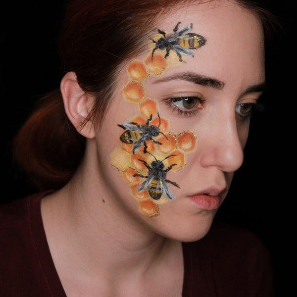 Bee Face Paint Design