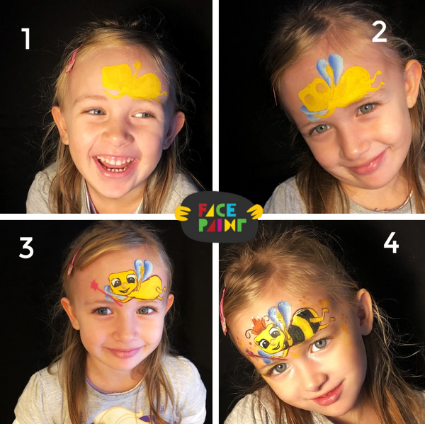 Bee Face Paint Design by Marina