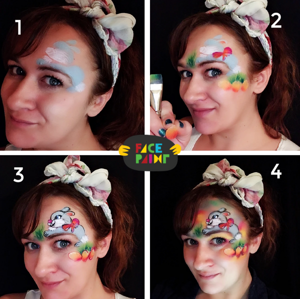 Bunny Face Paint Design