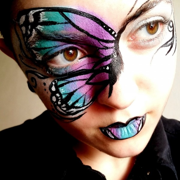 Butterfly Mask Face Paint Design