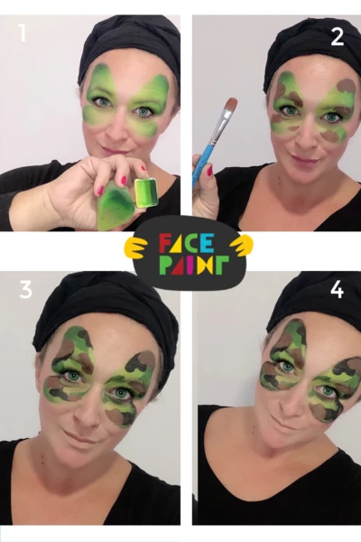 Camouflage Face Paint by Marina