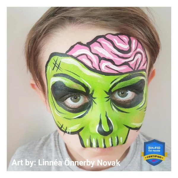 Comic Zombie Face Paint