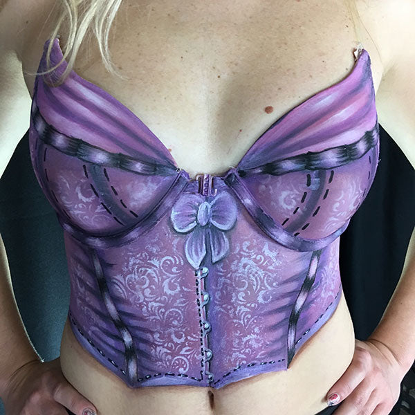 Super Girly Corset Body Paint Video by Athena Zhe