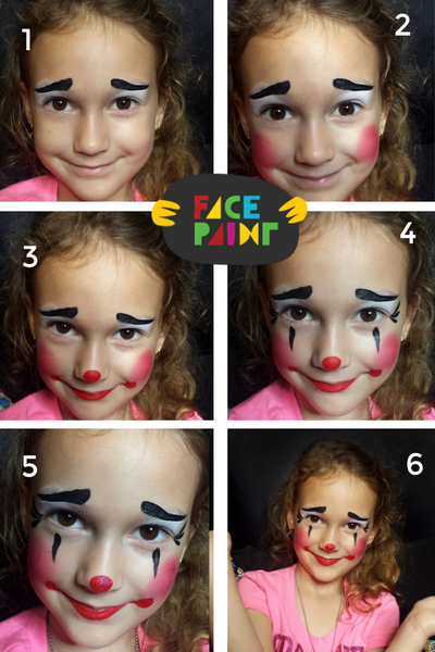 How to Paint a Cute Clown Face