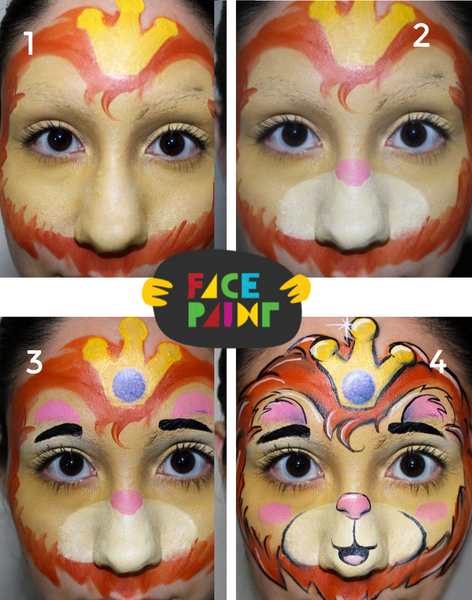 How to Paint a Lion Face