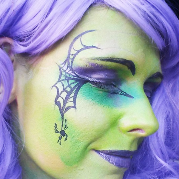 Cute Witch Face Paint Design