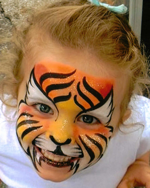 Dawn Crocker Tiger Face Paint