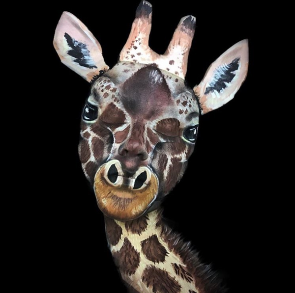 Giraffe Illusion Face Paint