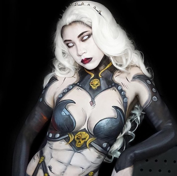 Lady Death Body Paint