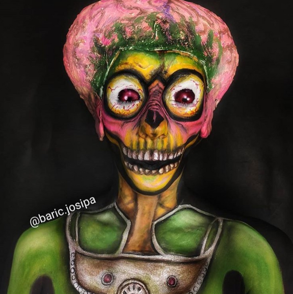 Mars Attacks Face Paint Design