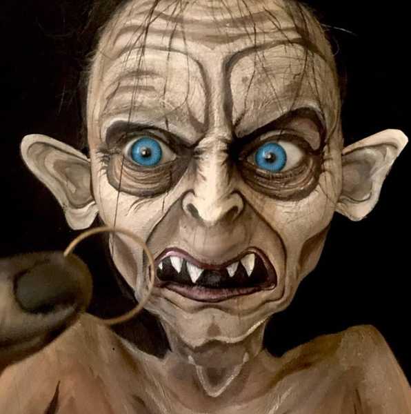 Gollum Face Paint Design