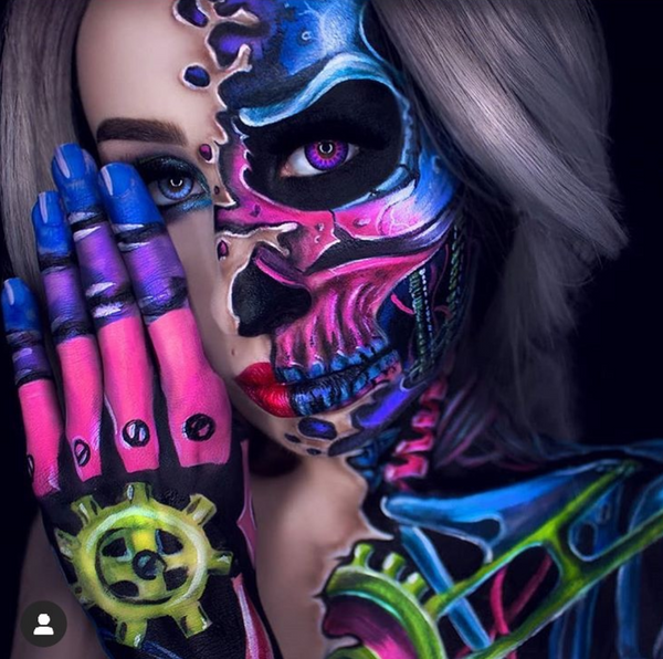 Terminator Alice Face Paint