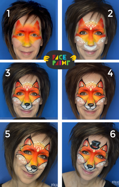 Fox Face Paint Design