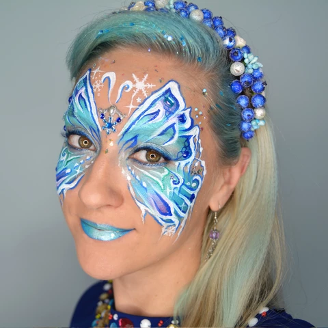 Frozen Butterfly Face Paint Design