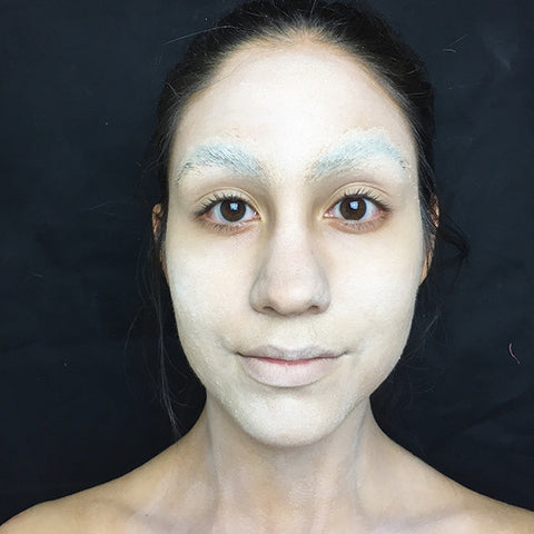 Face with concealer