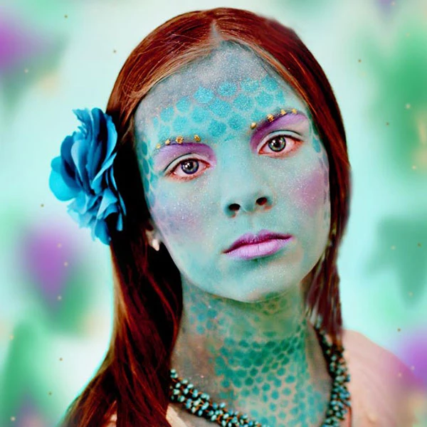 Full Face Mermaid Face Paint Design