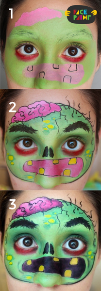 Green Zombie Face Mask