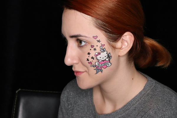 Hello Kitty Cheek Art Design