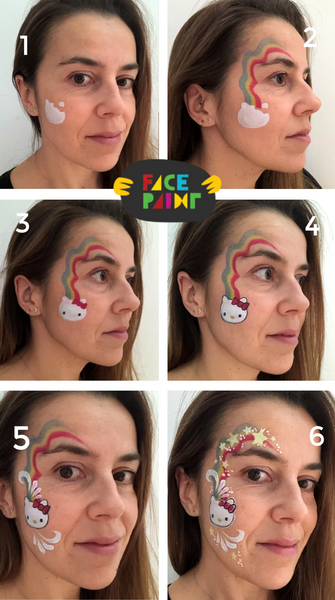 Hello Kitty Face Paint Design