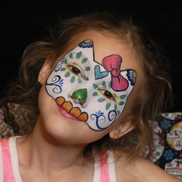 Hello Kitty Face Paint Tutorial