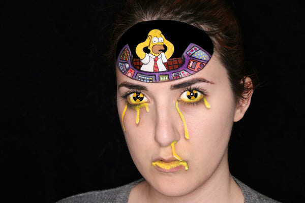 Homer Simpson Mind Control Face Paint Design