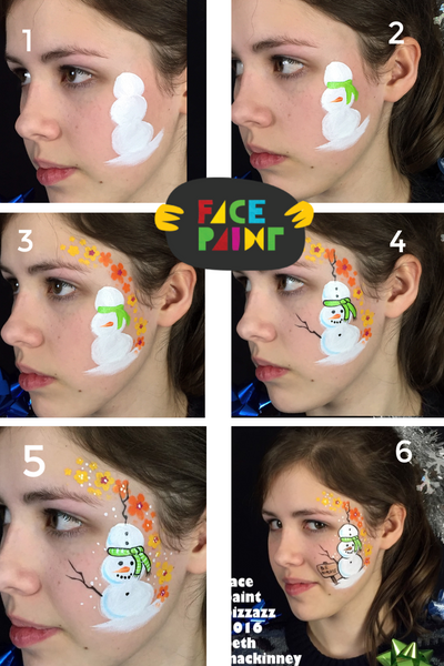 How to Paint a Cute Snowman Face