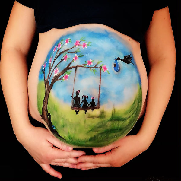 Spring Belly Paint by Marina