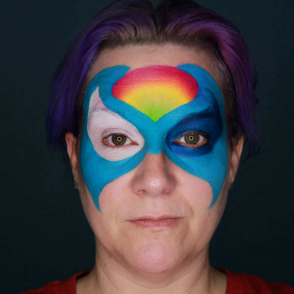 Superhero Mashup Face Paint Tutorial by Stacey Perry