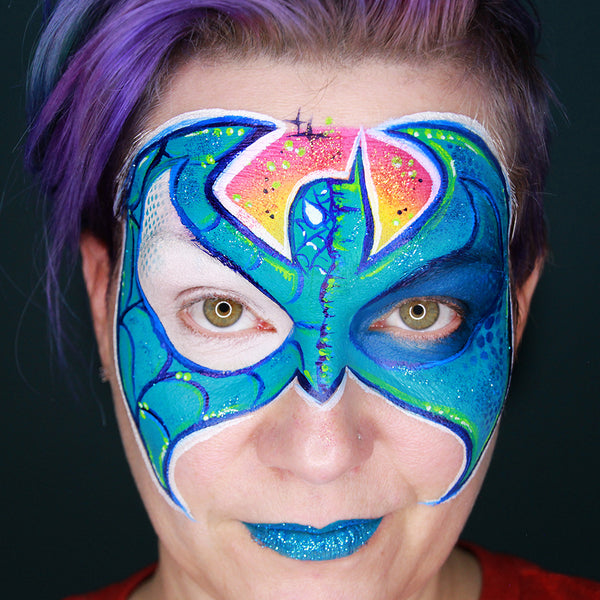 Superhero Mash Up Face Paint Tutorial by Stacey Perry