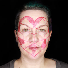 Heart Face paint by Stacey Perry