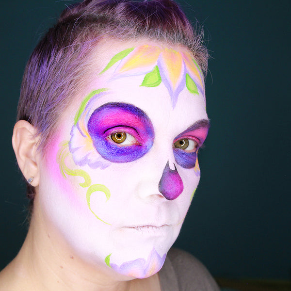 UV Sugar Skull Makeup by Stacey Perry (Richard)