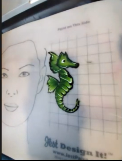 Sea Horse Face Paint Design
