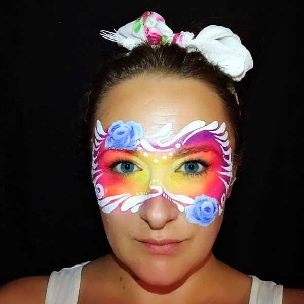 Juicy Fruit Mask Face Paint Design