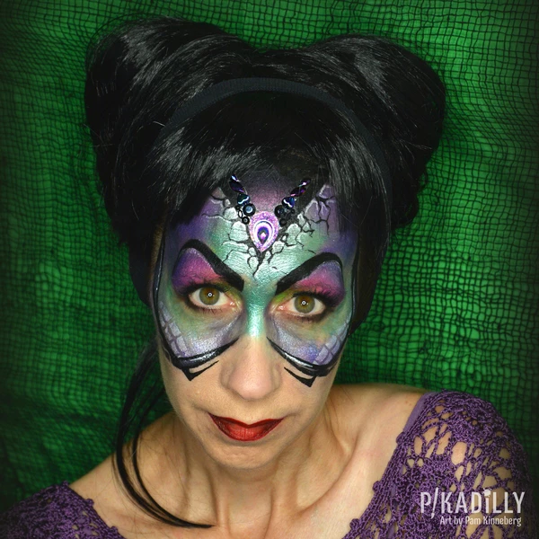 Maleficent Face Paint Design