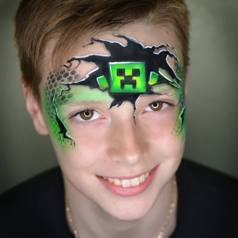 Minecraft Face Paint Design