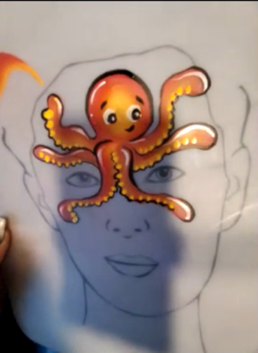 Octopus Face Paint Design